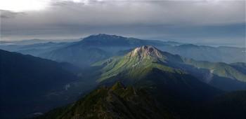 山頂から焼岳