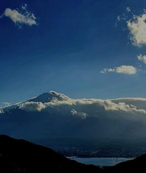 帰り道富士山