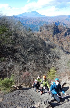 丁須の頭と浅間山