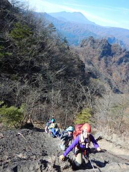 丁須の下山
