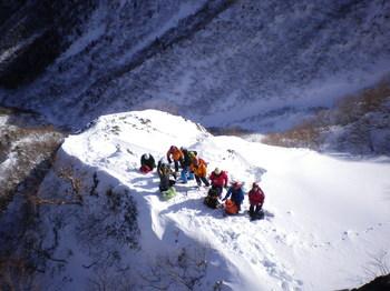 阿弥陀岳北稜