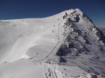 山頂へ最後の登り