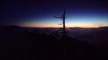 西穂山荘から夕陽