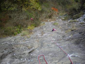 獅子岩1~2ピッチ目